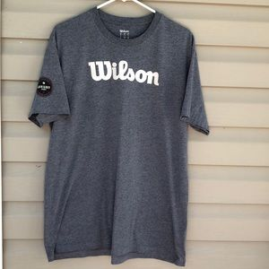 Wilson men's gray&white short sleeve tee